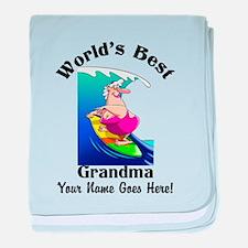 Worlds Best Grandma baby blanket