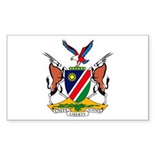 Namibia Coat of Arms Rectangle Decal
