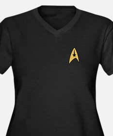 Star Trek Command Women's Plus Size V-Neck Dark T-