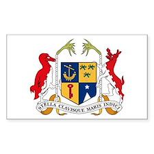 Mauritius Coat of Arms Rectangle Decal