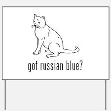 Russian Blue Yard Sign