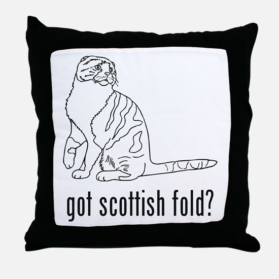 Scottish Fold Throw Pillow