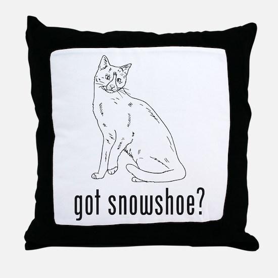Snowshoe Throw Pillow