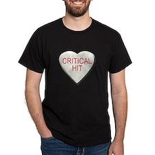 Critical Hit Candy Heart Black T-Shirt