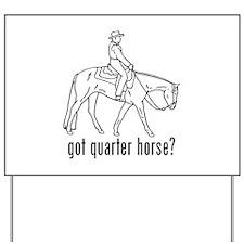 Quarter Horse Yard Sign