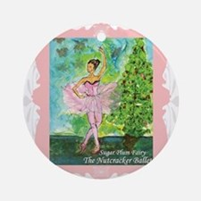 Sugar Plum Fairy Ornament (Round)