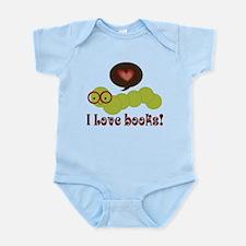 I Love Books Bookworm Infant Bodysuit