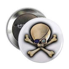 """Jolly Roger 2.25"""" Button (10 pack)"""