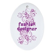 Fashion Designer Ornament (Oval)