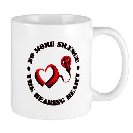 The Hearing Heart with No More Silence Mugs
