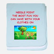 i love needlepoint Infant Blanket