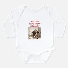 author and writers joke Long Sleeve Infant Bodysui