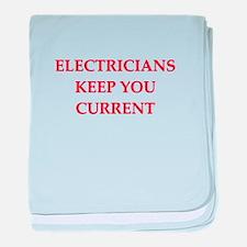 funny electrician joke Infant Blanket