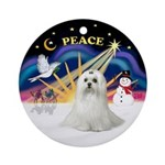 Xmas Sunrise - Maltese (C) Ornament (Round)