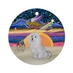 Xmas Star - Maltese Ornament (Round)