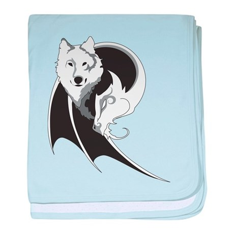 Wolf & Dragon baby blanket