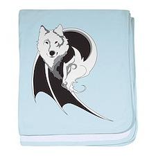 Wolf & Dragon baby blanket