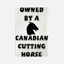 Canadian Cutting Horse Rectangle Magnet