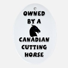 Canadian Cutting Horse Oval Ornament