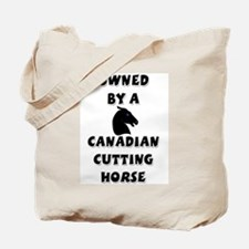 Canadian Cutting Horse Tote Bag