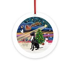 Xmas Magic-Great Dane (blk-nat.)Ornament (Round)