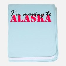 Moving to Alaska 2 baby blanket