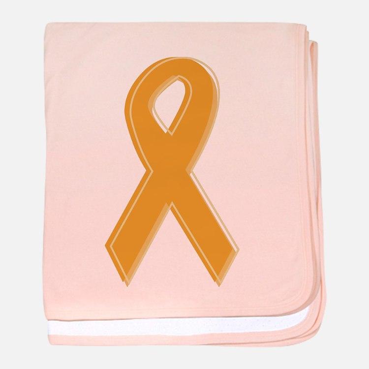 Orange Aware Ribbon baby blanket