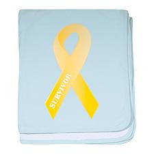Yellow Ribbon Survivor Infant Blanket