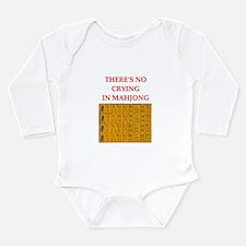 i love mahjong Long Sleeve Infant Bodysuit