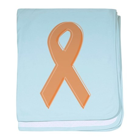 Gold Awareness Ribbon Infant Blanket