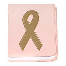 Gold Awareness Ribbon Infant Blanket