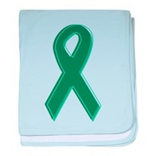 Green Awareness Ribbon Infant Blanket