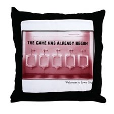 Kinnick Pink Throw Pillow
