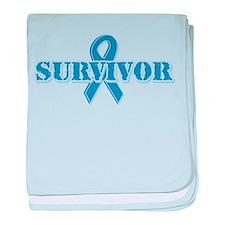Light Blue Survivor Infant Blanket