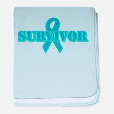 Teal Ribbon Survivor Infant Blanket