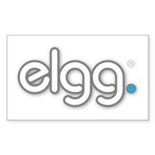 Cute The official elgg logo Decal