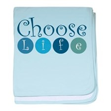 Choose Life (circles) baby blanket