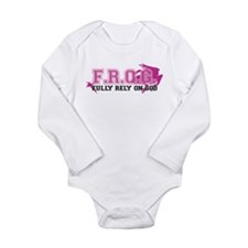 FROG pink Long Sleeve Infant Bodysuit