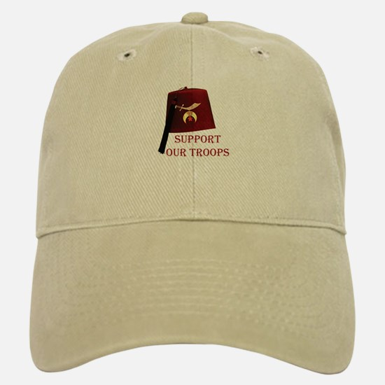 Shriners Support our Troops Baseball Baseball Cap