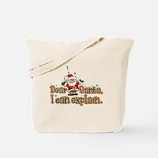 Dear Santa, I can Explain Tote Bag