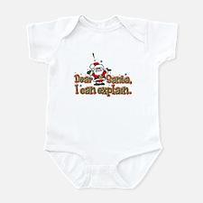 Dear Santa, I can Explain Infant Bodysuit
