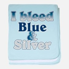 I Bleed Blue and Silver baby blanket