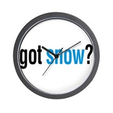 got snow? Wall Clock