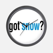 got snow? Wall Clock