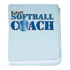 Future Softball Coach Infant Blanket