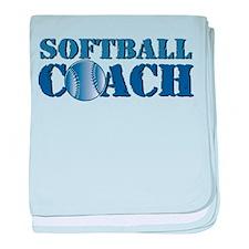 Softball Coach Infant Blanket