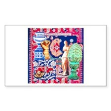 Tapestry in Blue Rectangle Decal