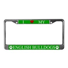 Green I Love My English Bulldogs Frame