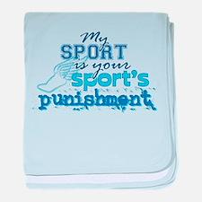 Sport Punishment blue baby blanket
