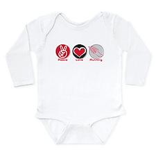 Peace Love Running Long Sleeve Infant Bodysuit